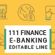 Finance and Banking Line Icons - GraphicRiver Item for Sale