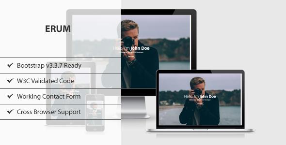 ERUM – CV/Portfolio HTML Template
