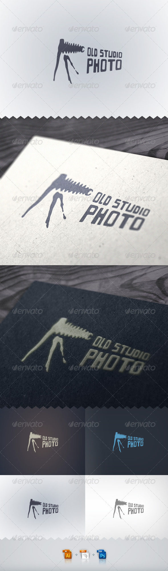 Old Studio Photo Logo - Objects Logo Templates