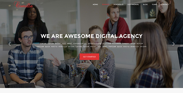 Comilla – Digital Agency One Page WordPress Theme
