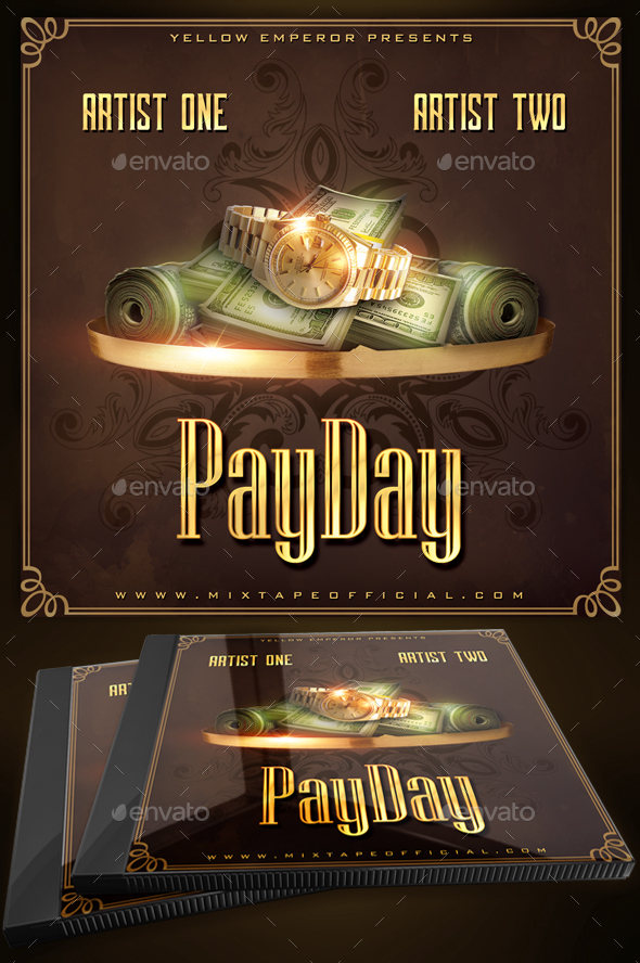 Payday Cd Mixtape Cover Template By Yellow Emperor