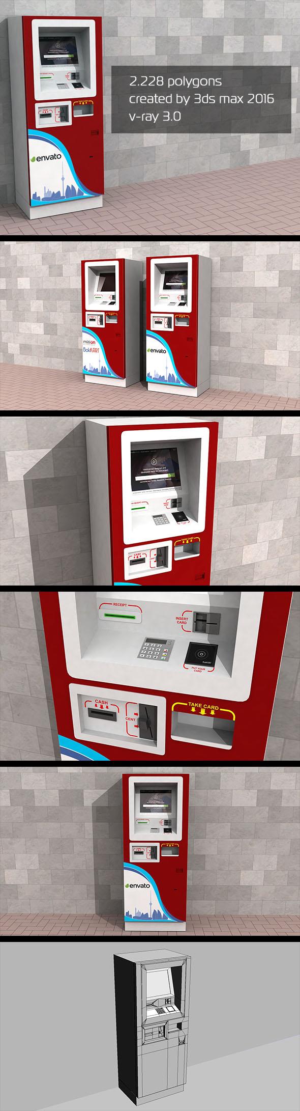 3D ATM Machine - Outdoor - 3DOcean Item for Sale