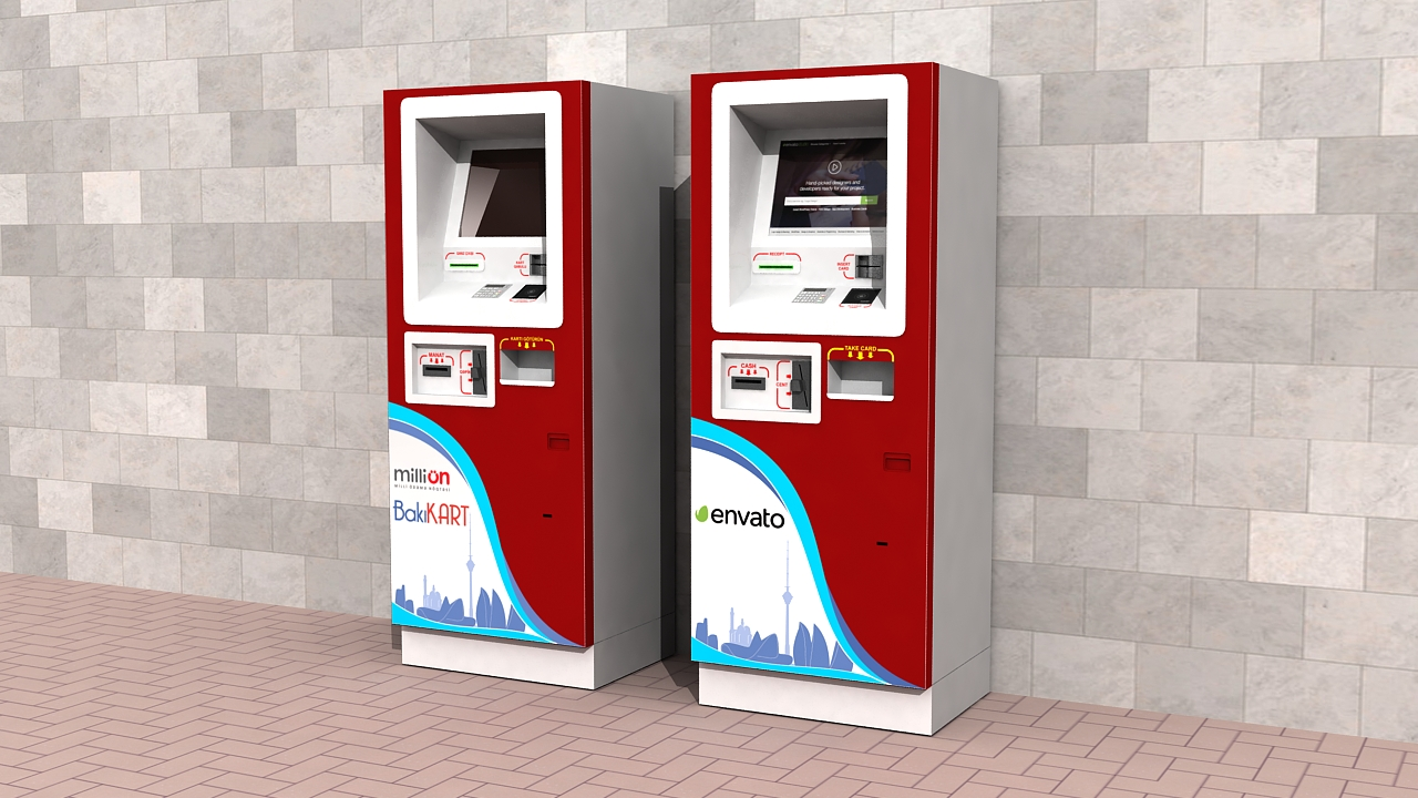 3d Atm Machine Outdoor By Tura256 3docean