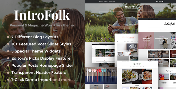 Introfolk - Personal & Magazine WordPress Responsive Blog Theme - Personal Blog / Magazine