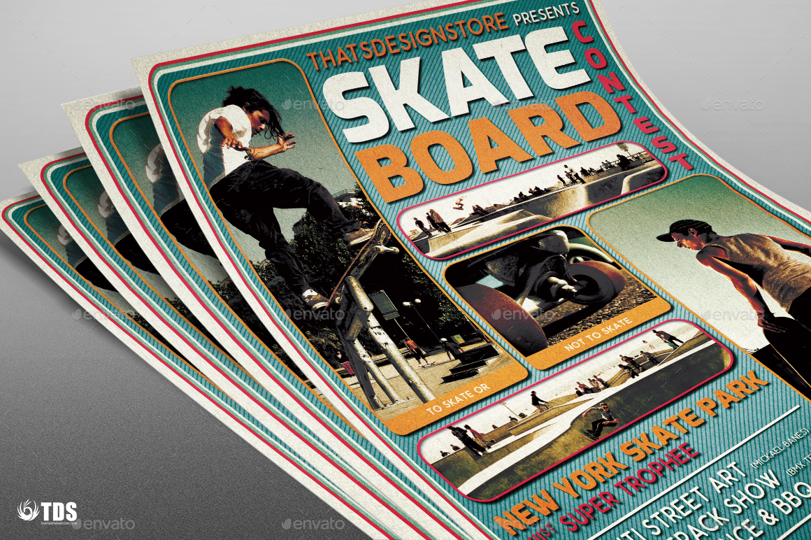 Skating Competition Flyer Template By Lou606 Graphicriver