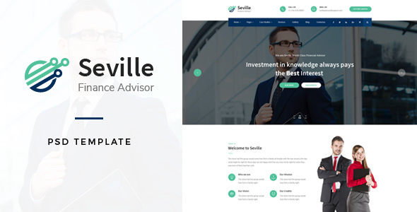 Seville - Financial Advisor PSD Template - Business Corporate