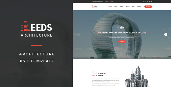 Leeds - Architecture PSD Template - Business Corporate