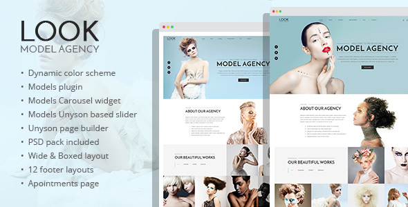 Look – fashion and model portfolio WordPress theme