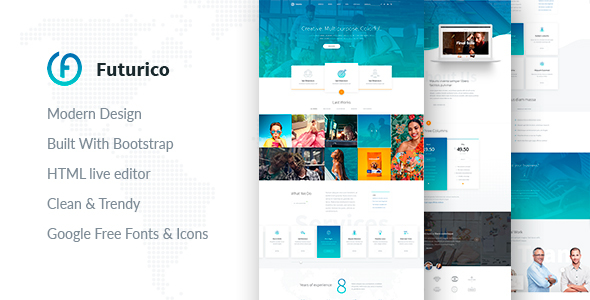 Futurico – Multipurpose HTML  Template
