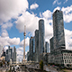 Modern City Skyline Downtown Toronto Clouds - VideoHive Item for Sale