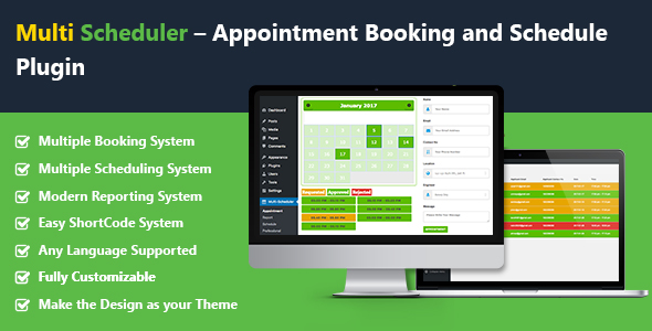 Multi Scheduler – Appointment Booking and Schedule with Multi Booking Plugin - CodeCanyon Item for Sale