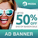 Moda - Fashion Sales PSD Banner Template - GraphicRiver Item for Sale