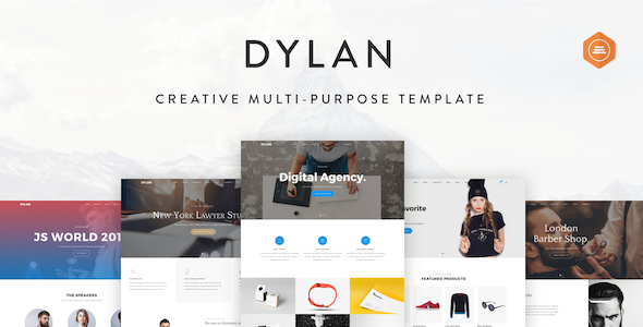 Dylan – Responsive Multi-Purpose HTML Template