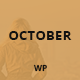 October - Responsive One Page WordPress Theme Nulled