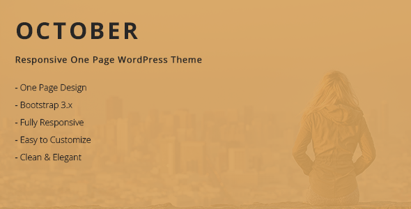 October – Responsive One Page WordPress Theme