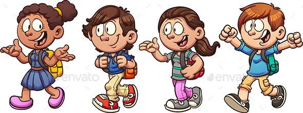 School Kids - People Characters