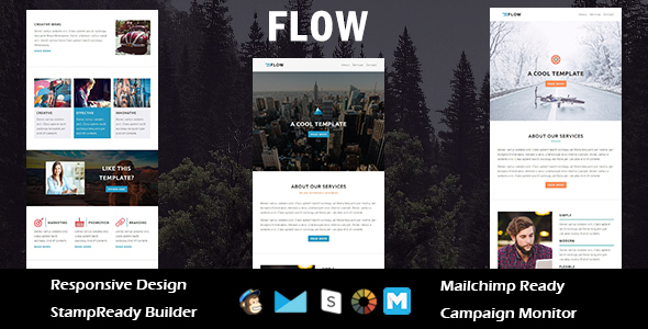 Image of Flow - Multipurpose Responsive Email Template + Stampready Builder