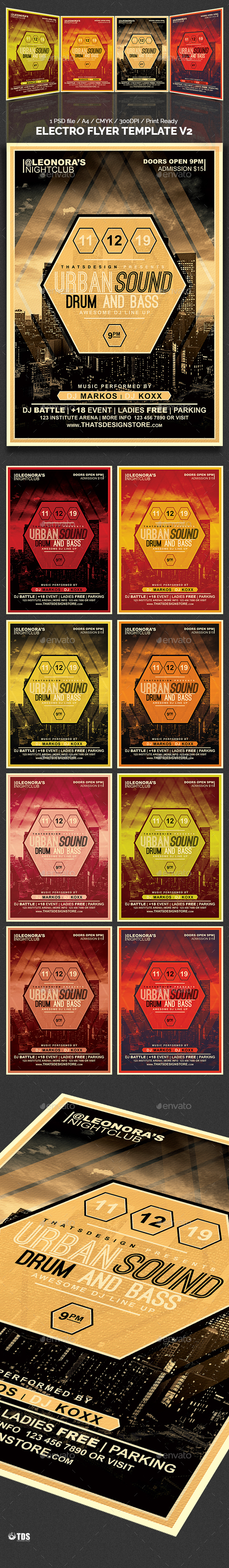Electro Flyer Template V2 - Clubs & Parties Events