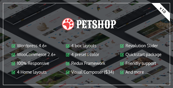VG Petshop – Creative WooCommerce theme for Pets and Vets