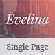 Evelina - Responsive One Page HTML Template for Actor / Model Portfolio - ThemeForest Item for Sale
