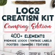 Logo Creation Kit - Camping Edition - GraphicRiver Item for Sale