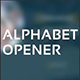 Alphabet Opener - VideoHive Item for Sale
