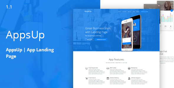 AppsUp - App Landing HTML Template - Apps Technology