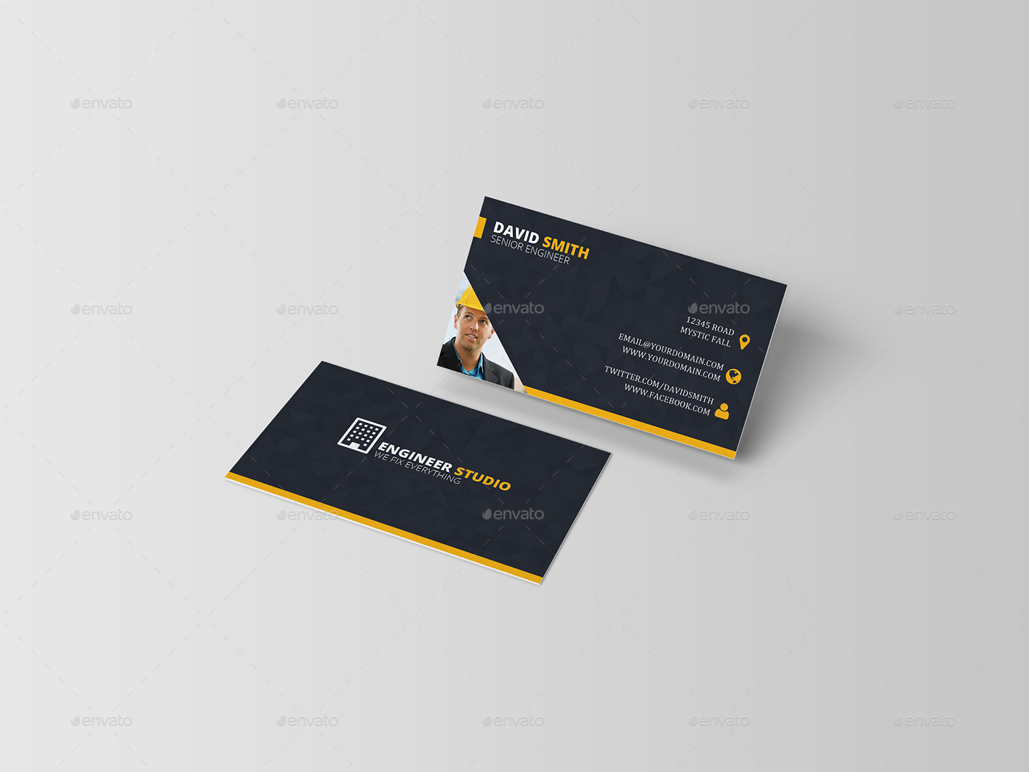 engineer business card industry specific business cards 01_previewjpg - Engineer Business Card