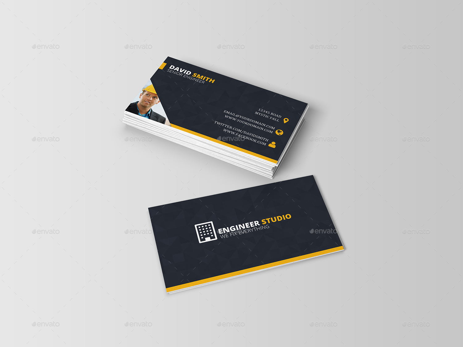 Engineer business card by dutchflow graphicriver engineer business card industry specific business cards 01previewg 02previewg magicingreecefo Image collections