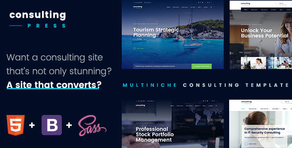ConsultingPress Multi Niche Consulting HTML Template - Business Corporate