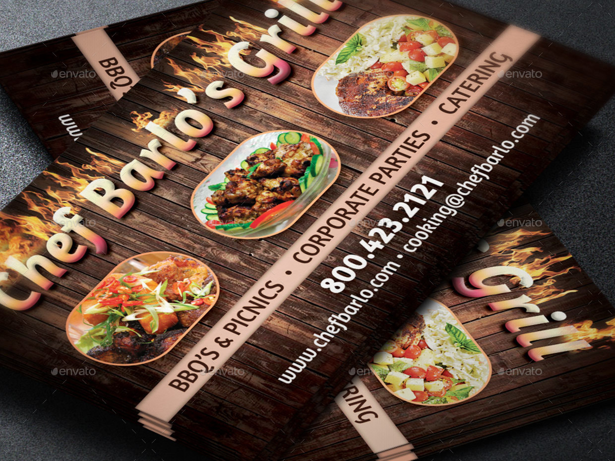 Chef Catering Business Card Template by Godserv2 | GraphicRiver