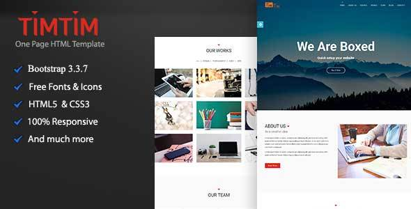 Timtim One Page Creative HTML Template