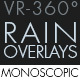 Rain Overlays VR-360° Editors Pack (Monoscopic) - VideoHive Item for Sale
