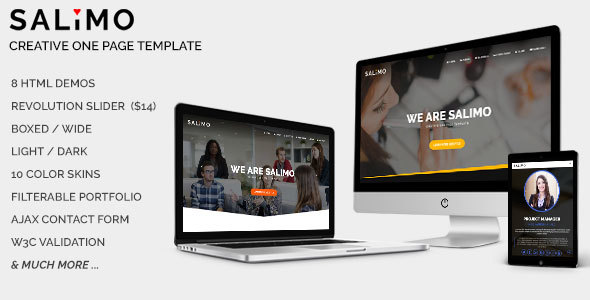 Salimo – Creative One Page Template