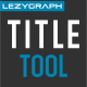 Gravity Title Tool - VideoHive Item for Sale