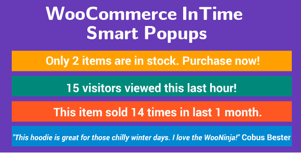 WooCommerce Sale Inspirer - Pressing Smart Messages - CodeCanyon Item for Sale