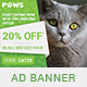 Paws - Pet Store PSD Banner Template - GraphicRiver Item for Sale
