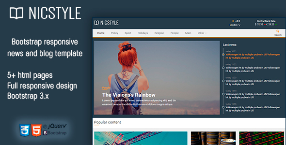 Nicstyle – News Template