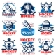 Hockey League Emblem Set