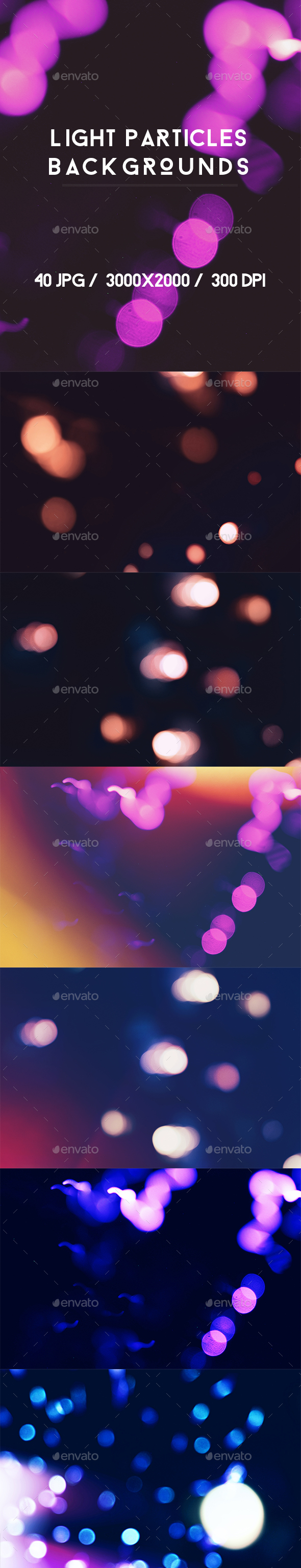 40 Light Particles Backgrounds - Abstract Backgrounds