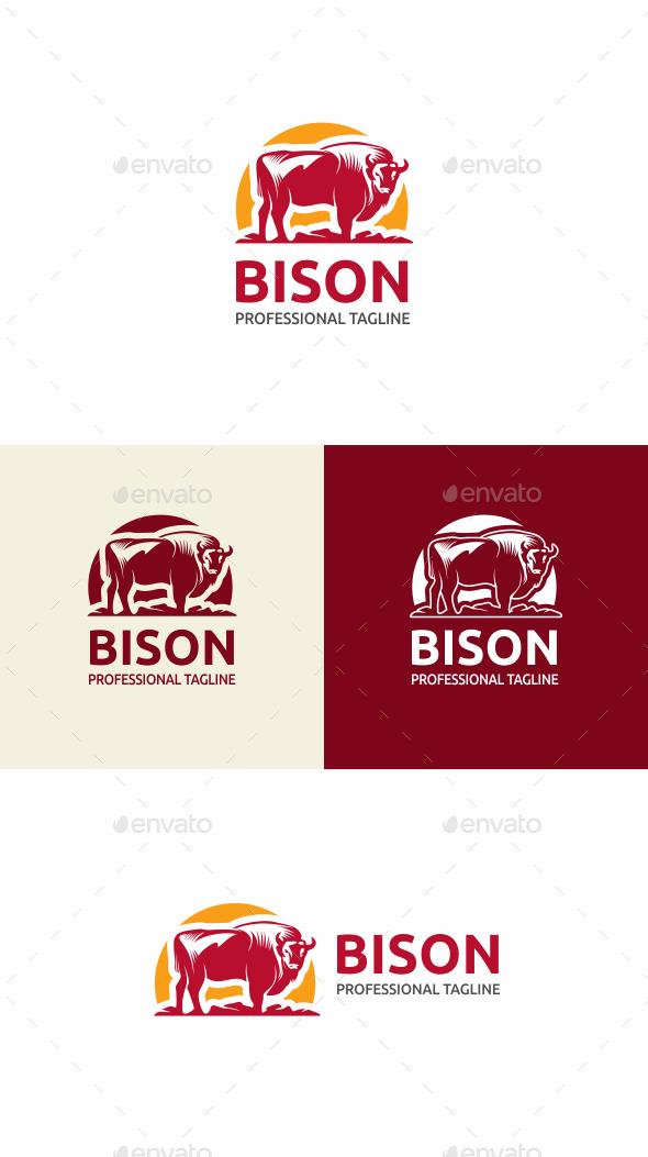 Bison - Animals Logo Templates
