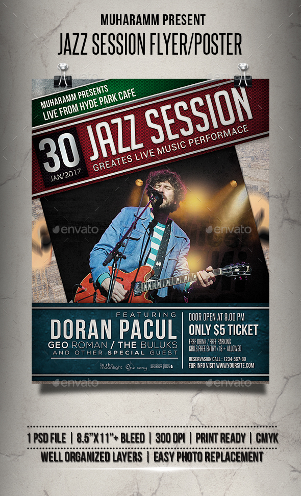 Jazz Session Flyer / Poster - Events Flyers