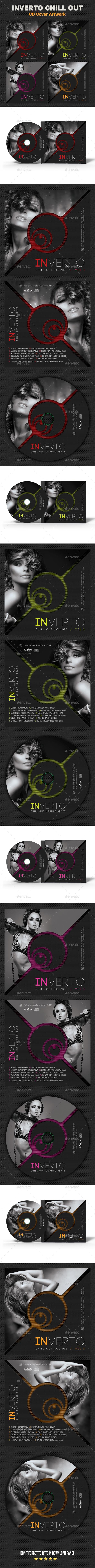 Inverto Music CD Cover 4 - CD & DVD Artwork Print Templates