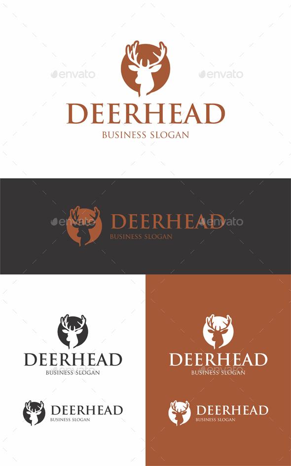 Deer Head - Animals Logo Templates