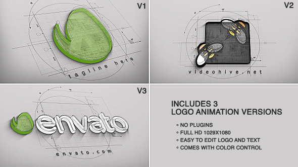 Architect logo reveal 3 versions by piktufa videohive play preview video malvernweather Gallery
