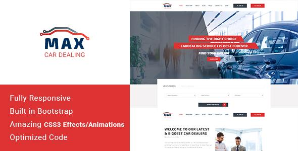 Max Dealer - Automotive Car Dealer HTML Template