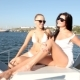 Young Woman Relaxing on a Yacht - VideoHive Item for Sale