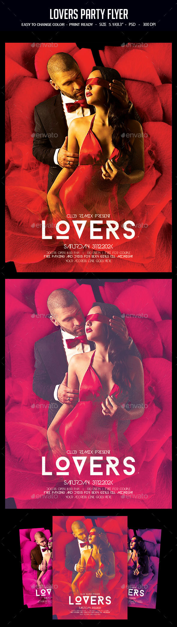Lovers Party Flyer - Clubs & Parties Events