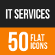 IT Services Flat Round Icons - GraphicRiver Item for Sale