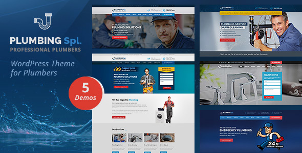 Plumbing Spl - Plumber WordPress Theme - Business Corporate
